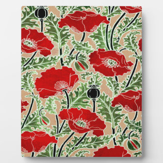 Red Poppy Plaque