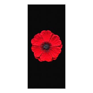 red poppy rack card design