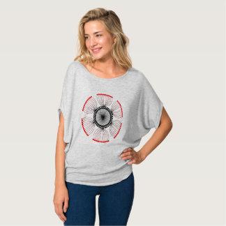 Red Poppy Seed Mandala T-Shirt