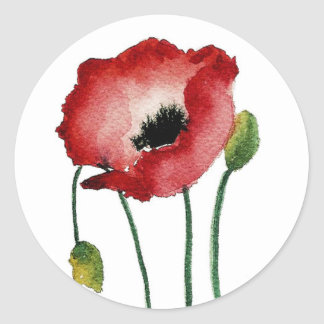 Red Poppy Sticker