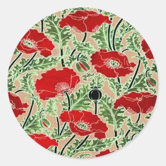 Red Poppy Stickers
