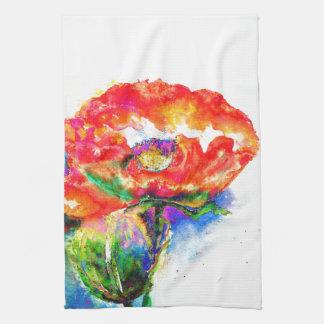 Red Poppy Tea Towel