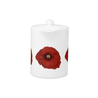 Red Poppy Teapot