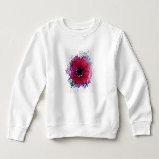 Red Poppy Toddler Fleece Girl Sweatshirt #1