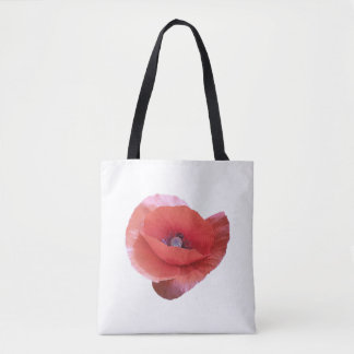 Red poppy. tote bag