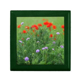 Red Poppys Tiled Gift Box