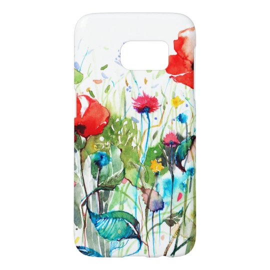 Red Poppy's Watercolors & Colourful Flowers