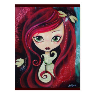 """Red Portrait"" Postcard"