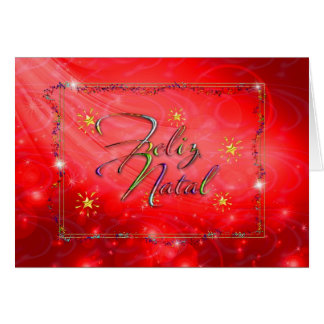 red Portuguese Christmas card