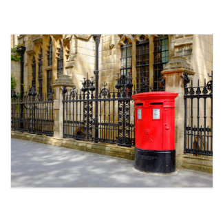 Red Post Box, Westminster, London, UK Postcard