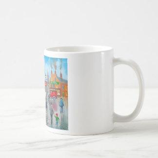 Red post van vinatge oil painting coffee mug
