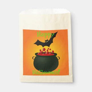 Red Potion and Bat Orange Favour Bags