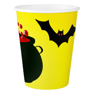 Red Potion and Bat Yellow Paper Cup