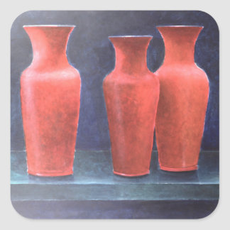 Red Pots 1988 Square Sticker