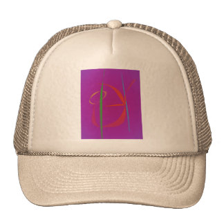 Red Prawn Abstract Image Mesh Hats