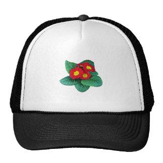 Red Primroses Trucker Hat