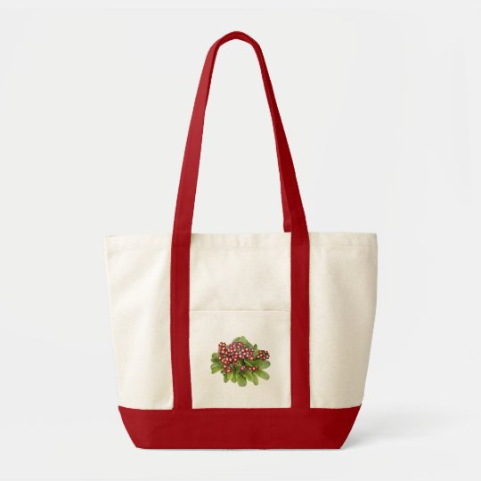 Red primula floral bag