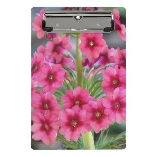 Red Primula Floral Mini Clipboard