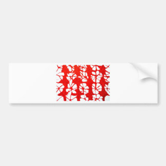 Red Propagation( tachism, abstract expressionism) Bumper Sticker