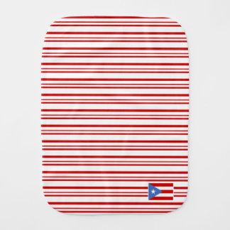 Red: Puerto Rico Flag Burp Cloth