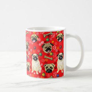 Red Pug Design Mug