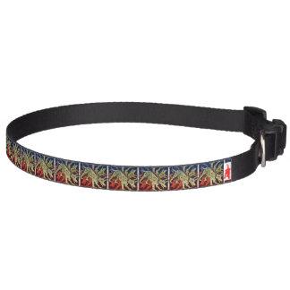 "red puppy ""Cave Canem Tiles"" Pet Collar"