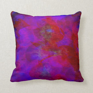 Red Purple Backdrop Watercolor Abstract Background Cushion