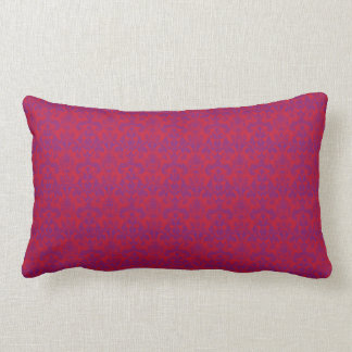 Red & Purple Damask Lumbar Pillow