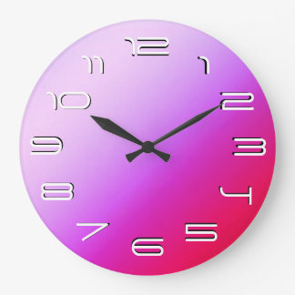 Red/purple elegant simplicity large clock