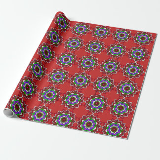 Red, Purple Mandalas Gift Gift Wrapping Paper