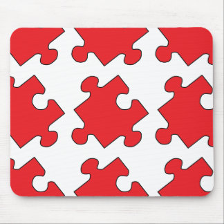 RED PUZZLE PIECE MOUSE PAD