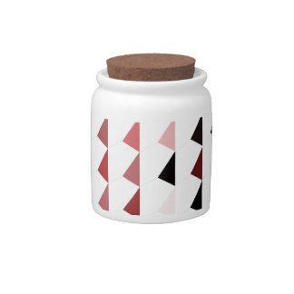 red pyramid pattern 04 candy dish