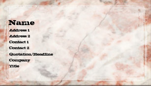 Museums business cards business card printing zazzle uk red quartz vintage business card reheart Images
