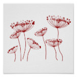 Red Queen Anne's Lace Poster