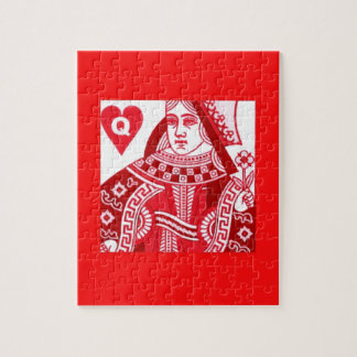 Red Queen of Hearts Jigsaw Puzzle