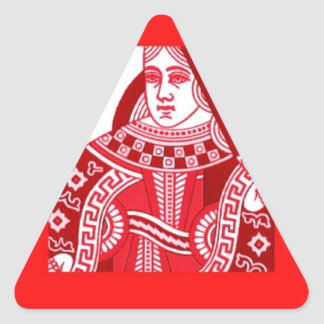 Red Queen of Hearts Triangle Sticker