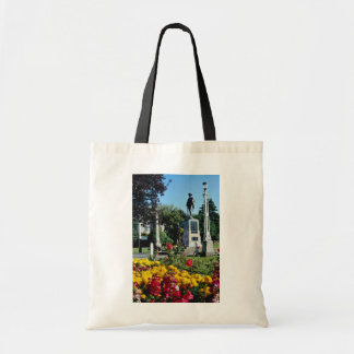 Red Queens Gardens, Colwyn Bay, North Wales flower Budget Tote Bag
