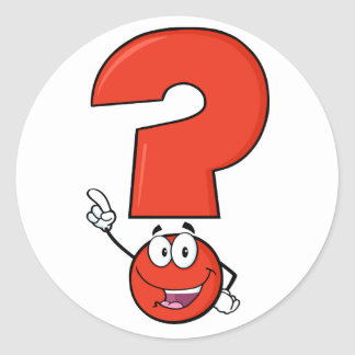 Red Question Mark Stickers