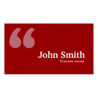 Red Quotes Fishing Guide Business Card