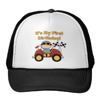 Red Race Car 1st Birthday Tshirts and Gifts Cap