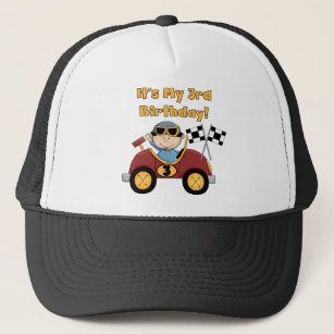 Red Race Car 3rd Birthday Tshirts And Gifts Trucker Hat