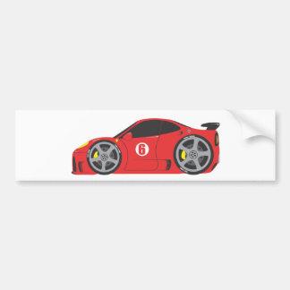 Red Race Car Bumper Sticker