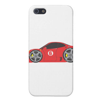 Red Race Car Cover For iPhone 5
