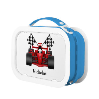 Red Race Car Lunch Box