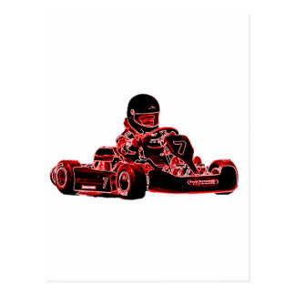 Red Racer Postcard