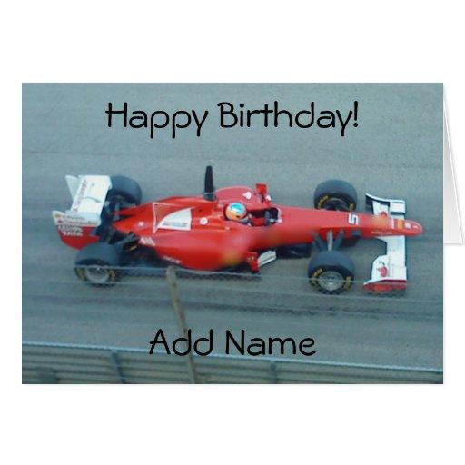 Red Racing Car Birthday Card