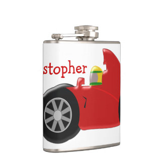 Red Racing Car Just Add Name Flask