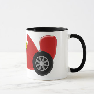 Red Racing Car Just Add Name Mug