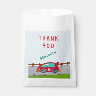 Red Racing Car Thank you Favour Bags