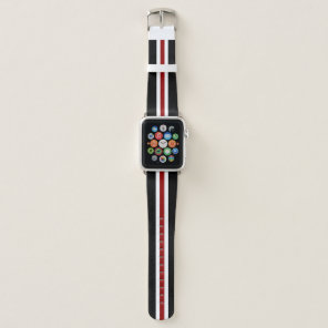 Red Racing Stripe Apple Watch Band